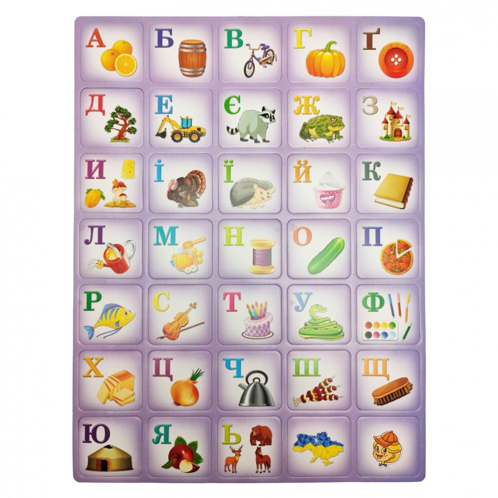 """Дитячий навчальний плакат """"Азбука"""" 1144ATS укр. мовою (фіолетовий)"""