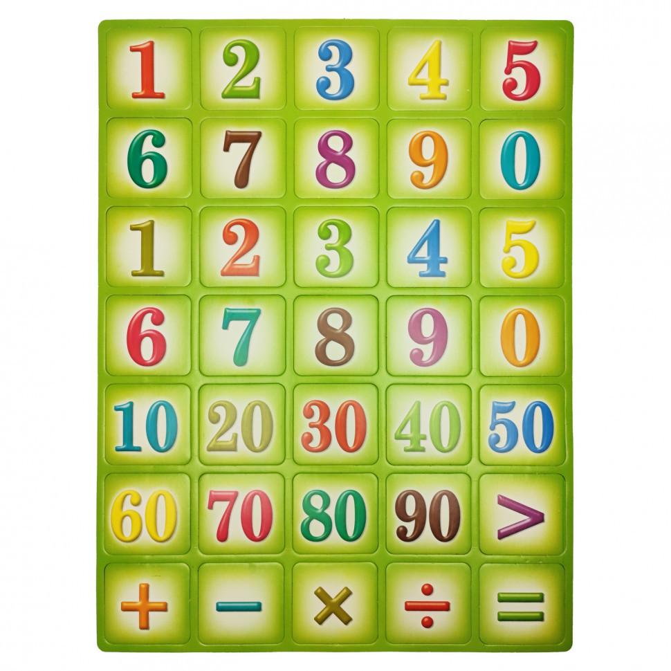 "Етский обучающий плакат ""Цифры"" 1151ATS для 3х лет (зелёный)"