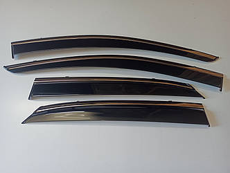 Дефлектори вікон Lexus RX 350 2015 - з хром молдингом нерж. сталь