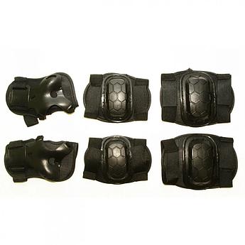Детская защита  MS 0335 для коленей, локтей, запястий (Черный)