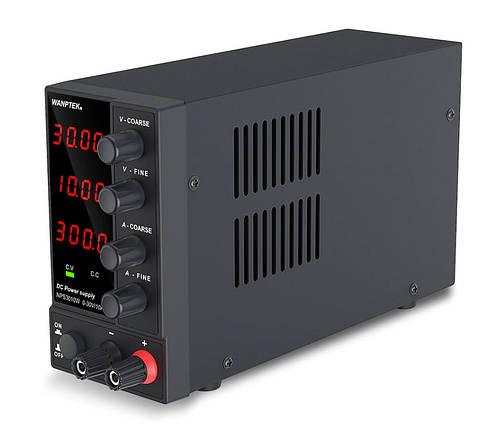 Блок питания лабораторный Wanptek NPS3010W 30V 10A (компактный), фото 2