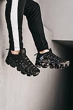 🔥 Кроссовки мужские Nike Vapor Max Plus Tn черные летние легкие найк вапор макс плюс низкие