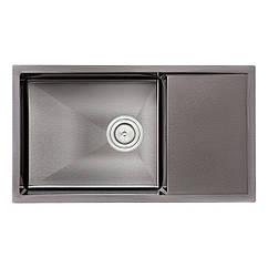 Кухонна мийка Qtap D7844BL Black 3.0/1.2 мм (QTD7844BLPVD12)