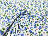 """Ткань батист (подкладка) 100% хб молочного цвета """"Земляника"""" синяя, фото 3"""