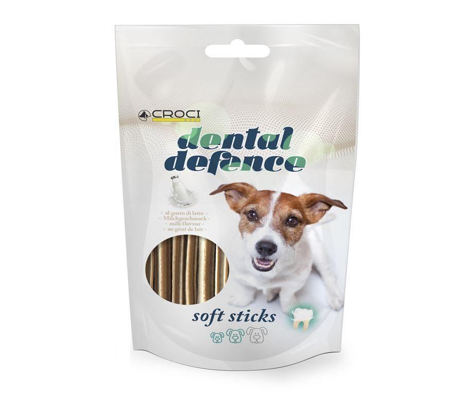 Лакомство для чистки зубов у собак с молоком Croci Dental Defence Soft Sticks 60 г