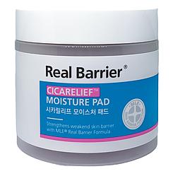 Зволожуючі і заспокійливі педи Real Barrier Cicarelief Moisture Pad