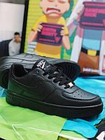 Кроссовки Nike Air Force Люкс Копия Найк Аир Форс черные мужские женские унисекс