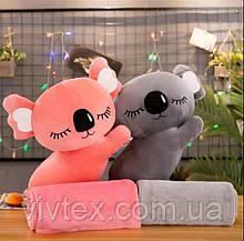 Плед іграшка коала і подушка 3в1 оптом