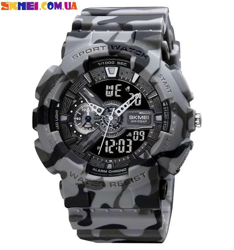 Спортивний наручний годинник Skmei 1688 (Grey Camouflage)
