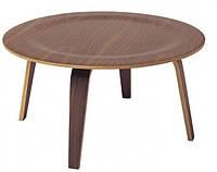 Стіл журнальний Амі (Ами) дерев'яний, натуральний горіх, діаметр 86 см