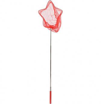 """Детский сачок для бабочек """"Звезда"""" MS 1287-3  ручка-телескоп 86 см (Красный)"""