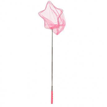 """Детский сачок для бабочек """"Звезда"""" MS 1287-3  ручка-телескоп 86 см (Розовый)"""