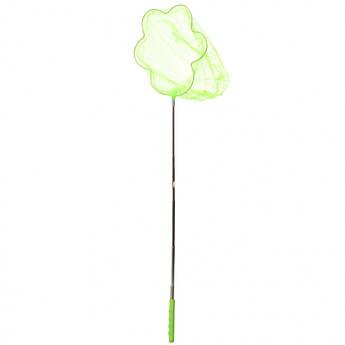 """Детский сачок для бабочек """"Цветок"""" MS 1287-2  ручка-телескоп 87 см (Зеленый)"""