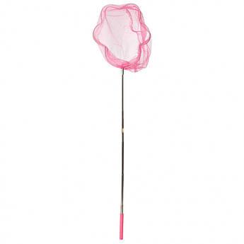 """Детский сачок для бабочек """"Цветок"""" MS 1287-2  ручка-телескоп 87 см (Розовый)"""