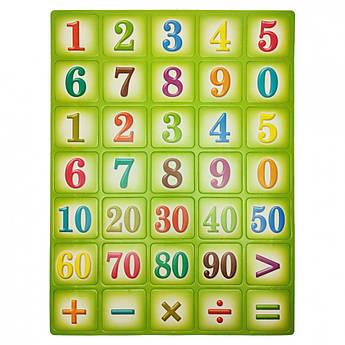 """Детский обучающий плакат """"Цифры"""" 1151ATS для 3х лет (зелёный)"""