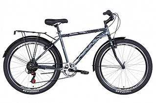 """Велосипед міської чоловічий 26"""" Discovery Prestige Man 2021 рама 18"""" антрацитовий"""