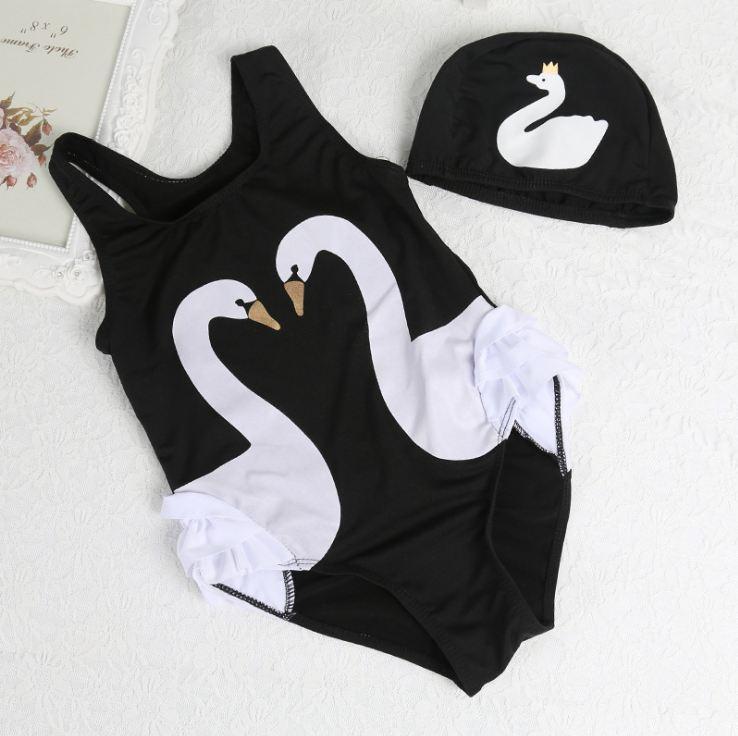 Купальник дитячий для дівчинки з шапочкою для плавання