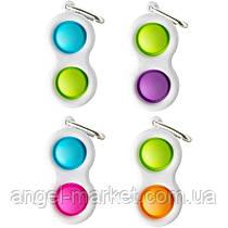 Трендова популярна іграшка поп іт pop it сімпл дімпл simple dimple кольорова антистрес для дітей і дорослих