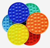 Поп ит pop it симпл димпл simple dimple цветная игрушка антистресс для детей и взрослых с пузырями тренд 2021, фото 1