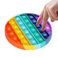 Поп ит цветная силиконовая игрушка антистресс для детей и взрослых с пузырями квадрат круг сердце тренд 2021, фото 1