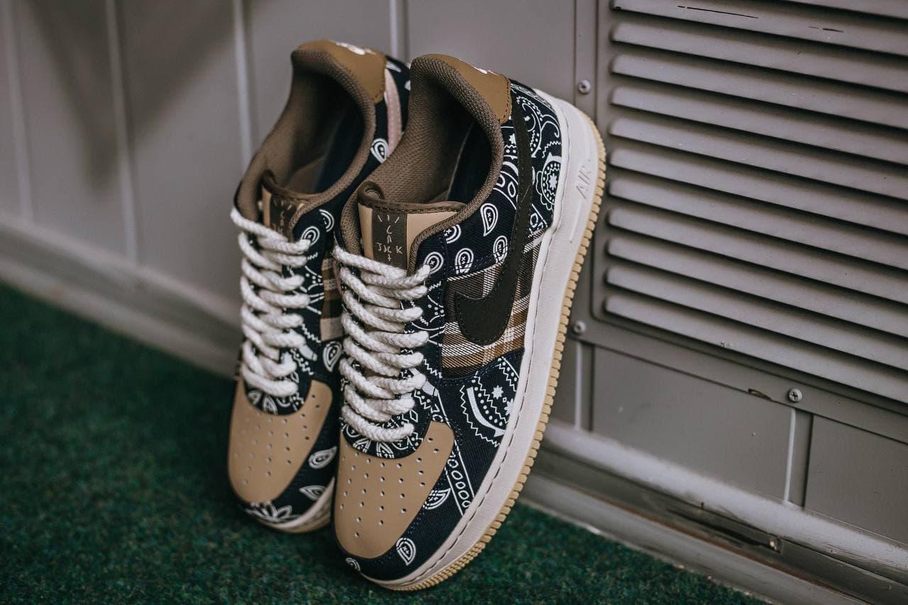 🔥 Кроссовки мужские спортивные повседневные Nike Air Force 1 x Cactus Jack (найк аир форс коричневые)