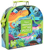 Пазл в чемоданчике Век Динозавров MiDeer 104 элемента, фото 1