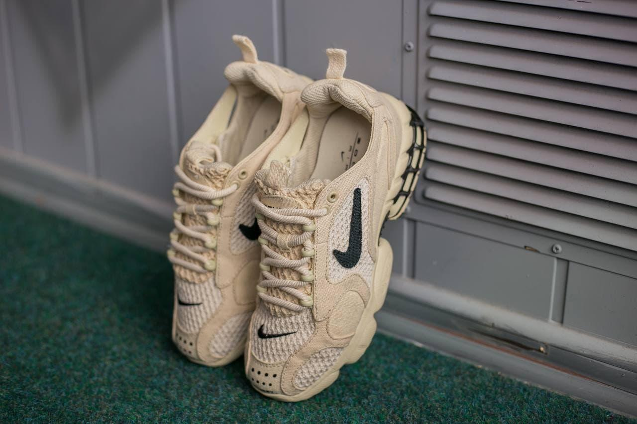 🔥 Кроссовки мужские спортивные Nike  Air Zoom Spiridon Cage 2 Stussy бежевые легкие летние найк зум эир