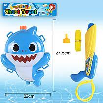 Дитячий водяний пістолет Акула - водний автомат з балоном рюкзаком на плечі.