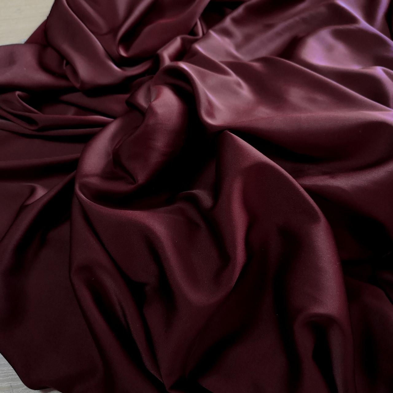 Ткань шелк-армани бордовый