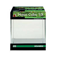 Аквариумный комплект Dennerle NanoCube (аквариум+крышка+фон+коврик), 10 л