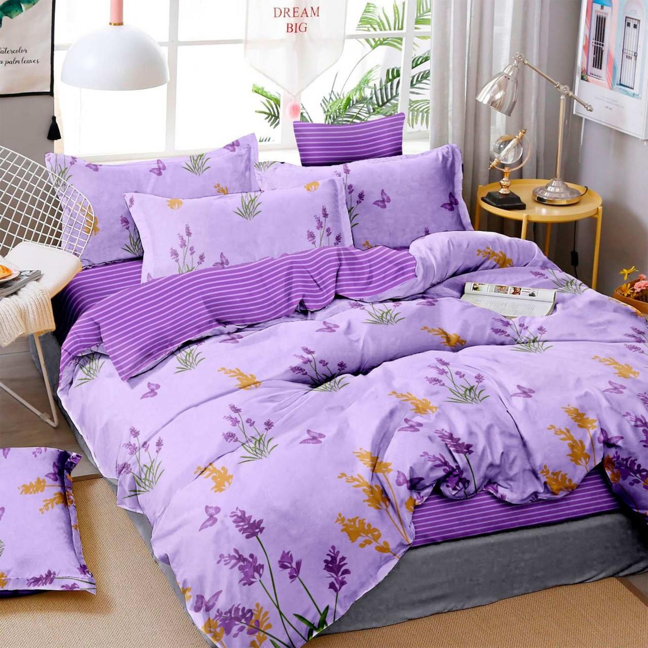 Двуспальный постельный комплект-Лаванда фиолетовый