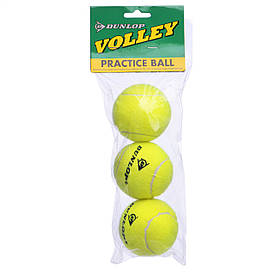 Теннисные мячики DUNLOP VOLLEY (3шт) D-155