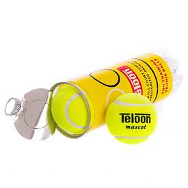Мячик для тенниса TELOON MASCOT (3шт) T801P3