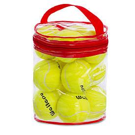 Набор мячей для большого тенниса Weilepu (12шт) 901-12