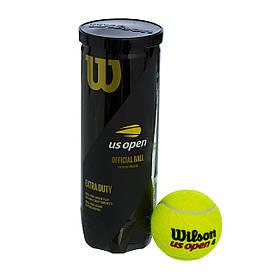 Мяч для большого тенниса турнирный WILSON US OPEN (3шт) WRT106200
