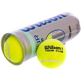 Мяч теннисный тренировочный Wilson TOUR CLUB (3шт) T1054