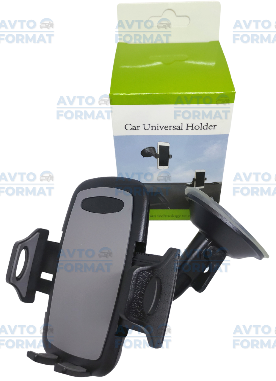 Держатель для телефона  автомобильный на лобовое стекло или торпеду на присоске раздвижной