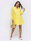 Сукня-трапеція з прошвы з мереживною вишивкою ЛІТО, фото 7