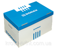 Короб для архивных боксов с накидной крышкой, DONAU, синий