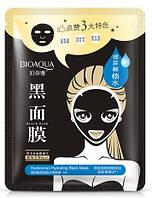 Тканевая маска для лица BIOAQUA с гиалуроновой кислотой и бамбуковым углём (30г)