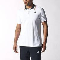Футболка Adidas Essentials Polo S12328 Мужская Оригинальная Адидас Поло Белая