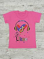 Детская розовая футболка Likee 00037