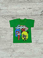 Футболка для девочки зеленый Lady Bug 00044