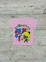 Футболка для девочки розовая Lady Bug 00045