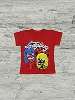 Футболка для девочки красная Lady Bug 00046