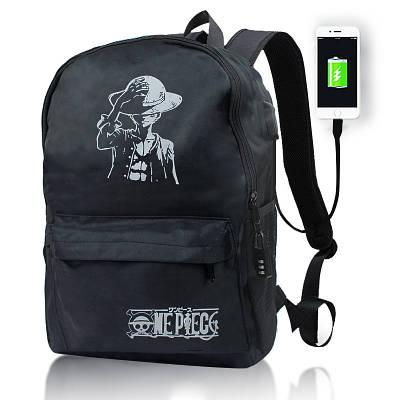 Городской рюкзак с кодовым замком и Usb 20л черный Jackson 154071