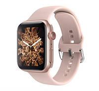 Смарт часы T500 + Watch 6 series Розовые в стиле Apple Watch (Smart Watch) Смарт годинник Фитнес браслет