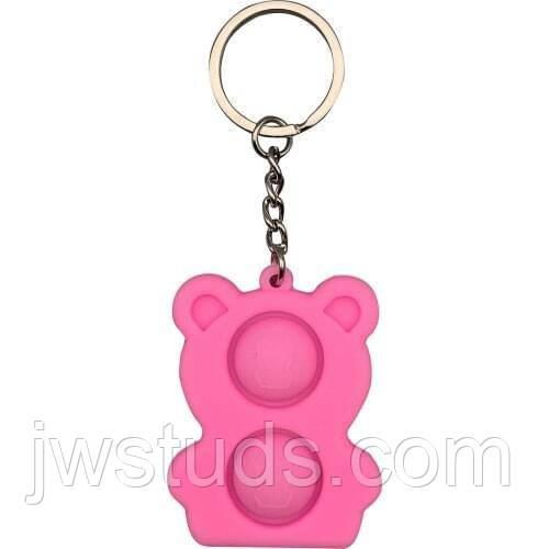 Игрушка поп ит брелок Mini Push Pop it Bubble Simple Dimple Fidget Toy Stress Relief Toys попит New