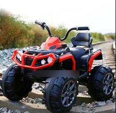 Детский электро квадроцикл электромобиль T-737/1 на EVA колесах с MP3 / красный
