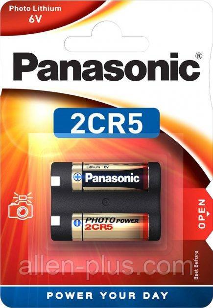 Батарейка литиевая Panasonic 2CR5 LITHIUM 6V 1pc blister card